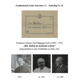 """Federflug Nr. 25: Hermann Scriba (1888-1976): """"Die Juden in meinem Leben"""""""